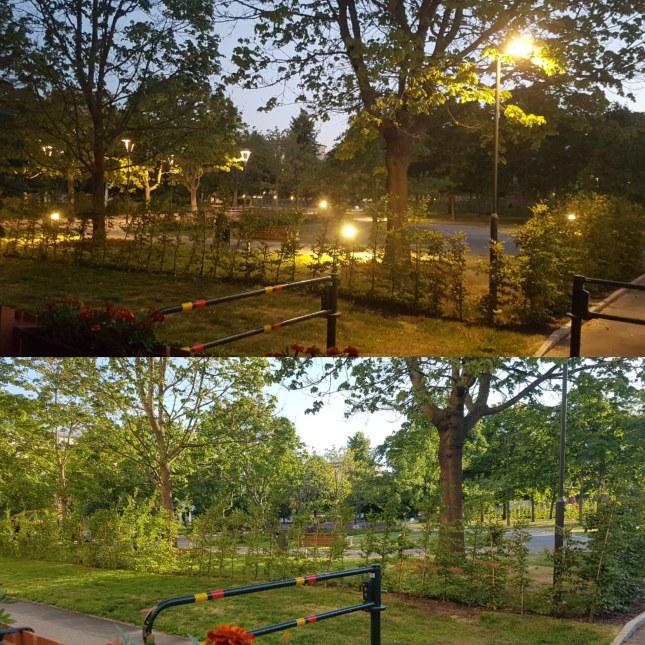 Blåklintsparken natt och dag